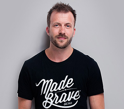 Andrew Dobbie founder of Glasgow based branding agency Madebrave