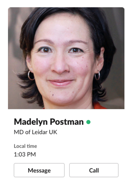 Madelyn Postman Managing Director of PR agency Leidar