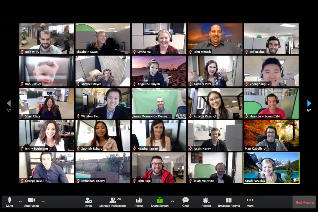 Agency owners participating in an Agency Collective Zoom group call to discuss new business, finance, recruitment challenges and provide peer support