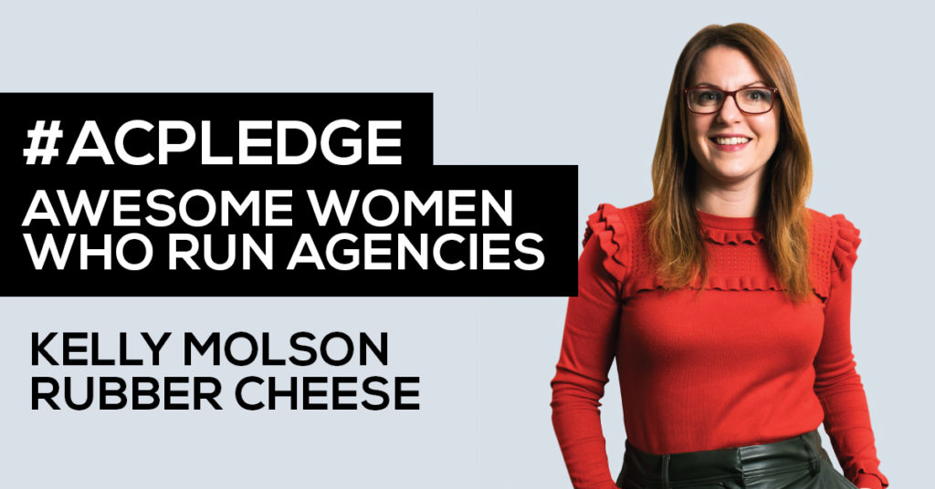 Kelly Molson co-founder of Cambridge based creative agency Rubber Cheese