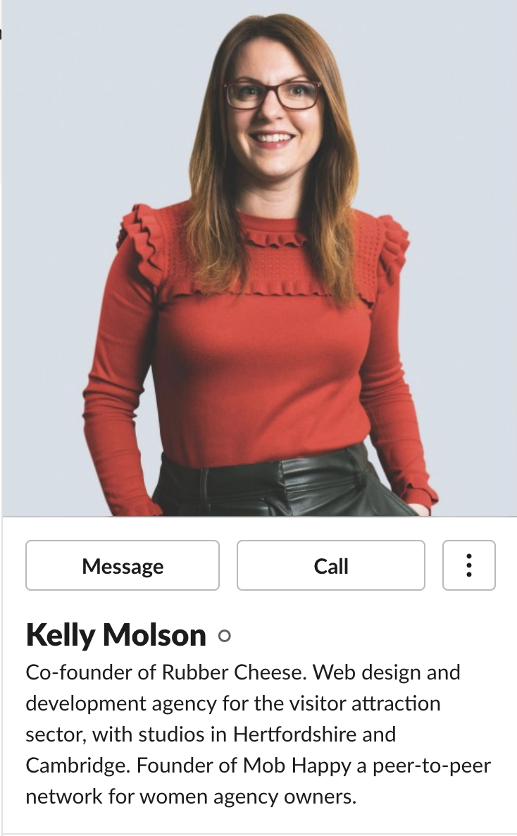 Kelly Molson Co-Founder of Rubber Cheese